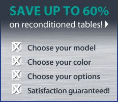 Save up to 60% on Reconditioned Tables
