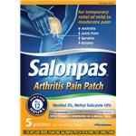 Salonpas® Arthritis Pain Patch, 5/Box