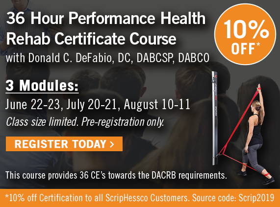 36 Hour Performance HealthRehab Certificate Course