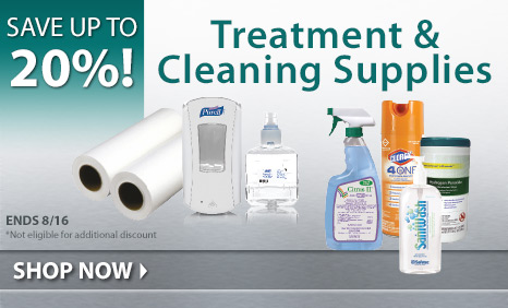 Save up to 20% on Treatment & Cleaning Supplies