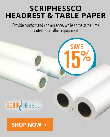 Scriphessco Headrest & Table Paper