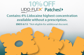 10% Off LidoFlex Patches