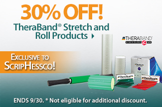 30% Off TheraBand Stretch and Roll Products