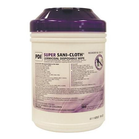 Super Sani-Cloth Germicidal Disposable Wipes - Large 160/Tub