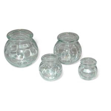 Glass Cupping Jars 4 Piece Set