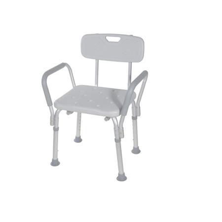 Bath Bench W/Removable Padded Arms W/Backrest