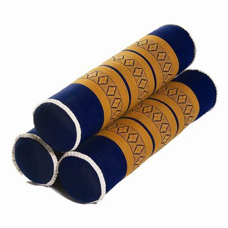 Thai Massage Bolsters, 3Ct Royal Blue/Gold