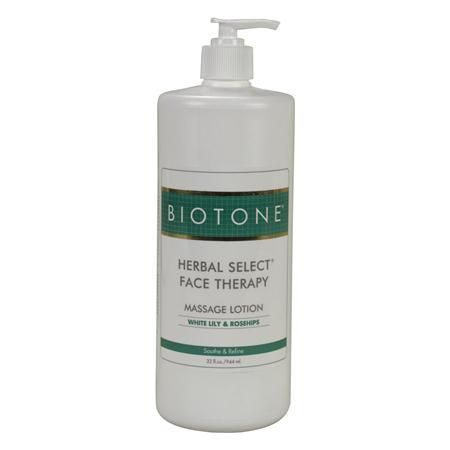 BIOTONE® Herbal Select® Massage Lotion Face, 32 oz With Pump