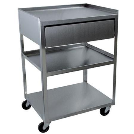 buy stainless steel rolling cart 3 shelf with drawer. Black Bedroom Furniture Sets. Home Design Ideas