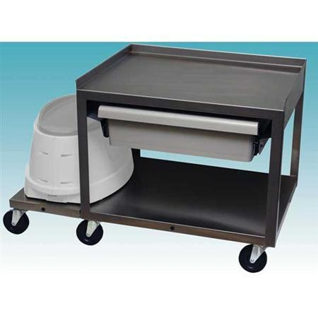 Paraffin Service Cart - 2 Shelf W/Drawer