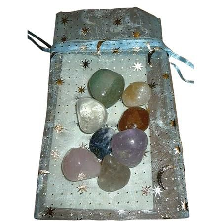 8 Chakra Gemstones With Pouch And Storycard