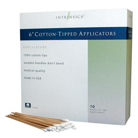 "Intrinsics 6"" Cotton Tip Applicators- 1000 Count"