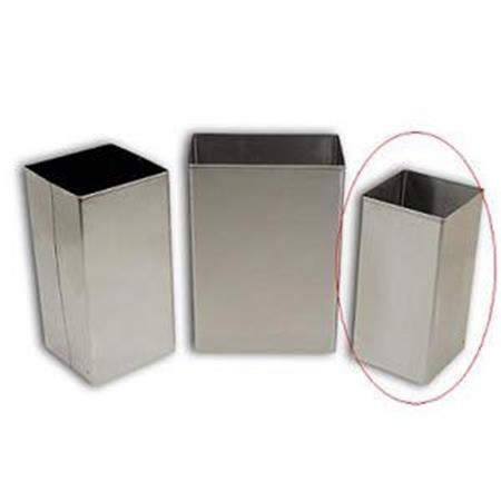 Standard Stainless Steel Waste Receptacle, 32 Qt
