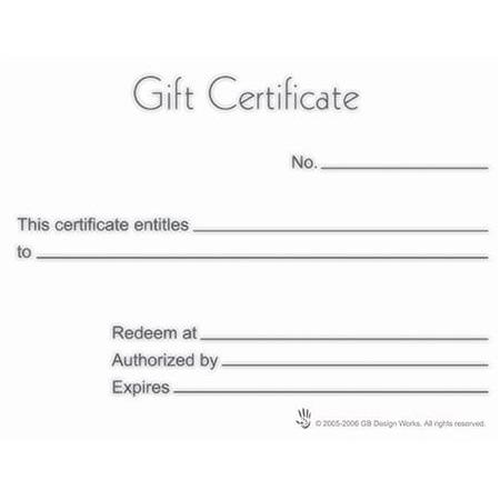 Gift Certificates With Envelope - 50 Pack