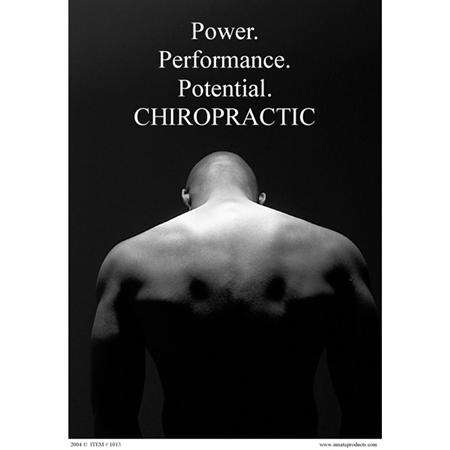 "Power Of Chiropractic Poster 18""X24"""
