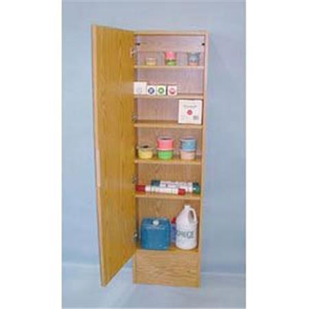 Cabinet With Mirror-Oak