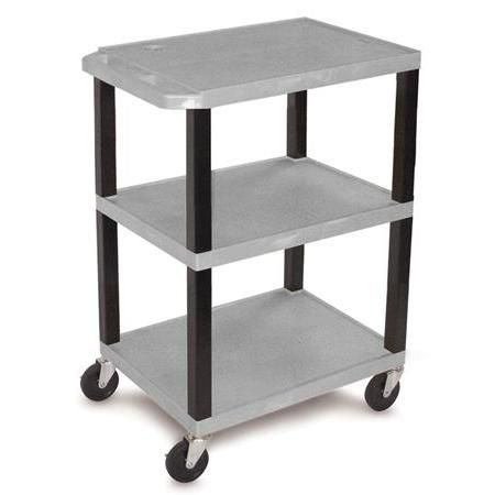 "34"" Shelf Cart - Gray"