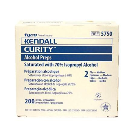 Curity Sterile Alcohol Prep Pads, 200/Box