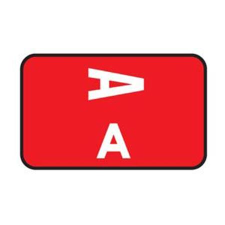 Laminated Alpha Labels A-Z Box, 100/Pkg
