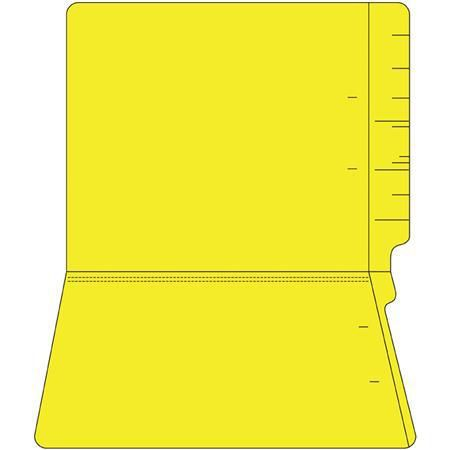 11PT Colored End Tab Folders, 100/Box