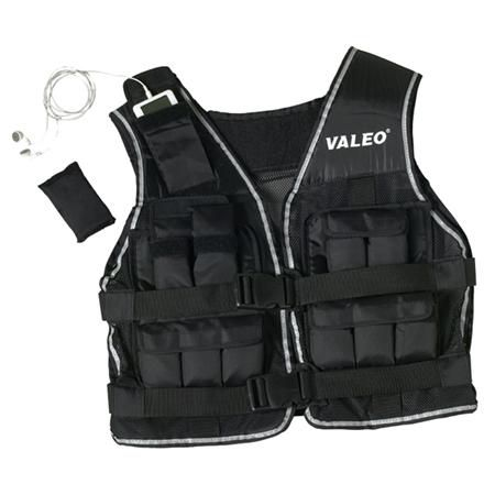 Valeo 20 Lb. Weighted Vest Black W/Reflective Bind