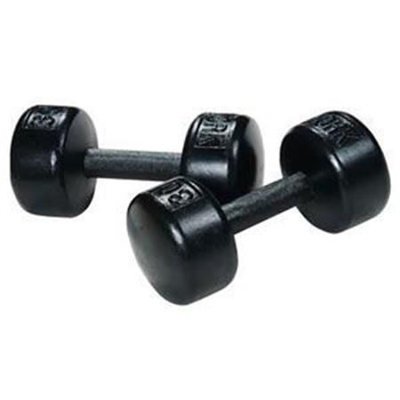 Solid Round Dumbbells Black - Sold Individually