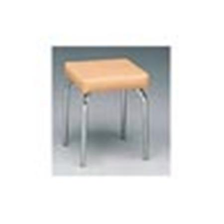 "Basic Square Stool Without Casters - 17""H"