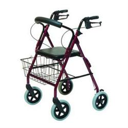 Walkabout Contour Deluxe Rollator Burgundy