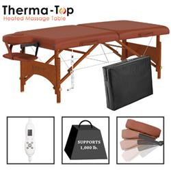 Master® Massage Equipment 28' Fairlane™ Portable Massage Table with Therma-Top® Package Cinnamon