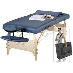 30' Catalina  LX Portable Massage Table Package Royal  Blue