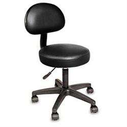 Nrg Rollng Stool W/ Removable Backrest Vanilla Cre