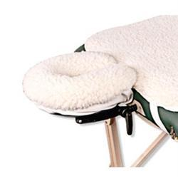 NRG Fleece Face Rest Pad & Head Rest Pad for Massage Tables - Natural