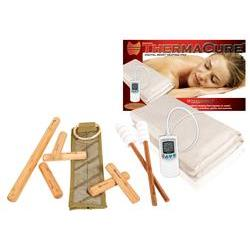 Warm Bamboo Stick Set with DVD and Electric Moist Heating Pad