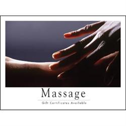 Poster 'Massage Gift Certificates Available' Hands #9