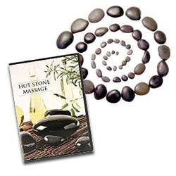 Hot Stone Massage Set Of 50 With Dvd