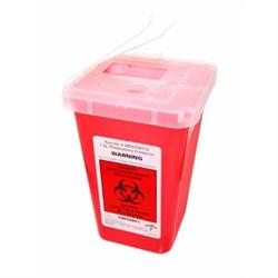 Lock-Up Sharps Container Red 1 Quart