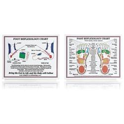 Laminated Foot Reflexology Chart 8.5' X 11'