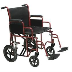 Drive Bariatric Transport Chair, Blue