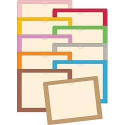 11 Pt End-Tab Pockets Printed Border 100/Box