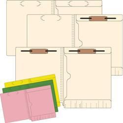 11 Pt Pocket Folders With One Fastener, 50/Box