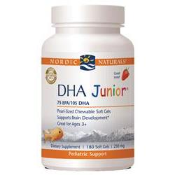 Nordic Naturals DHA Junior® Dietary Supplements - 180 Soft Gels
