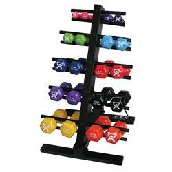 CanDo® Vinyl Coated Iron Dumbbells, Each