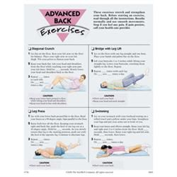 Advanced Back Exercises, 50 Tear-Off Sheets/Pad