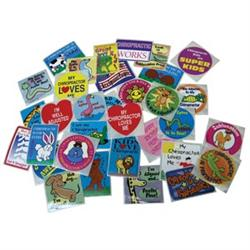 Assorted Chiropractic Sticker 75 Pack - Chiropractic Stickers for Kids