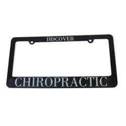 Chiropractic License Plate Bracket