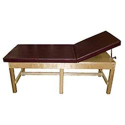 Bariatric Treatment Table W/Adj. Backrest & Shelf