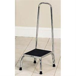 Bariatric Step Stool With Hand Rail