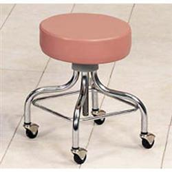 Adjustable Chrome Base Stool-Square Foot Ring