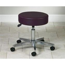 5 Leg Pneumatic Stool With Backrest 19.5'-24.5'H