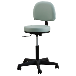 Oakworks® Premium Swivel Stool With Backrest